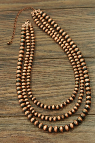 Brown Western Pearl Necklace