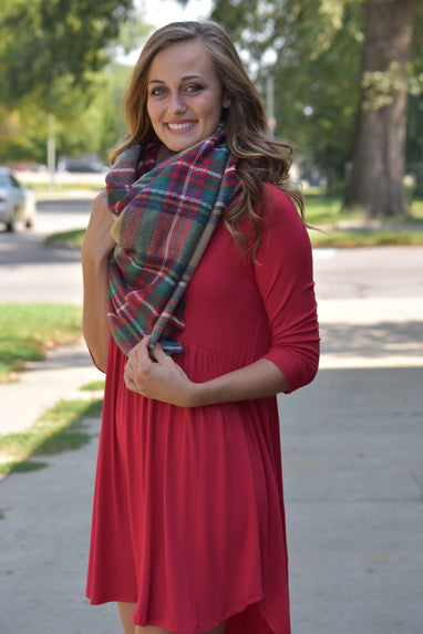 Red Dawn Basic Dress