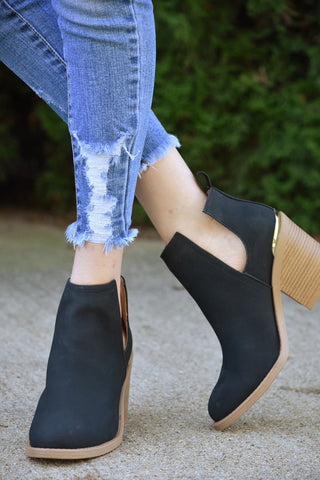 The Marcel Bootie (Black)