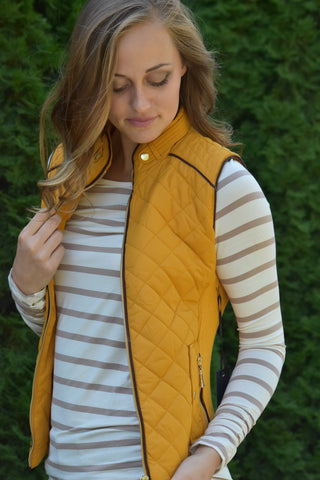 The Quilted Vest (4 Colors)