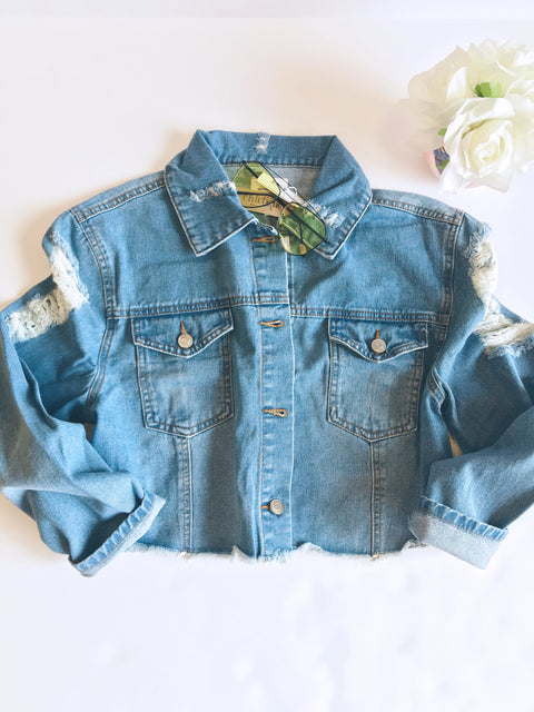 Backstage Cropped Denim Jacket