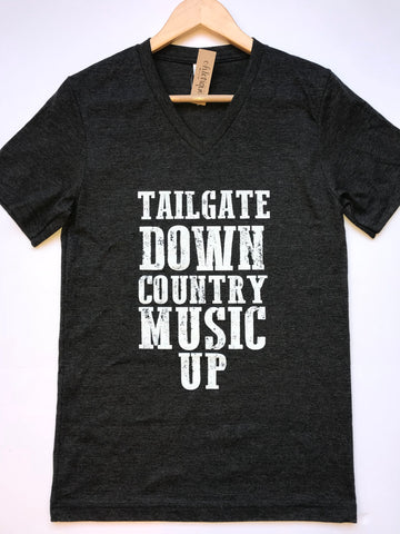 Tailgate Down Country Music Up Tee