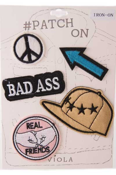 Real Friends Iron On Patch Set
