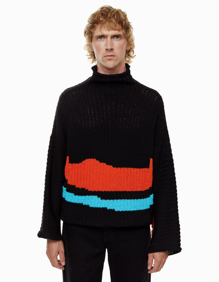 HORIZON SWEATER, DEEP SEA