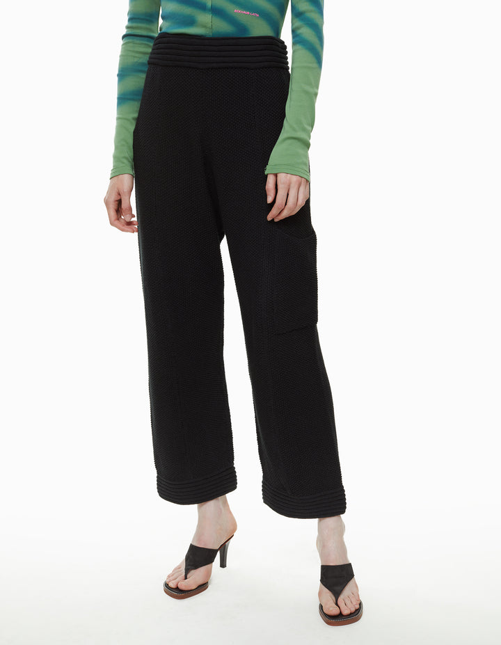 VACATION KNIT PANT, BLACK