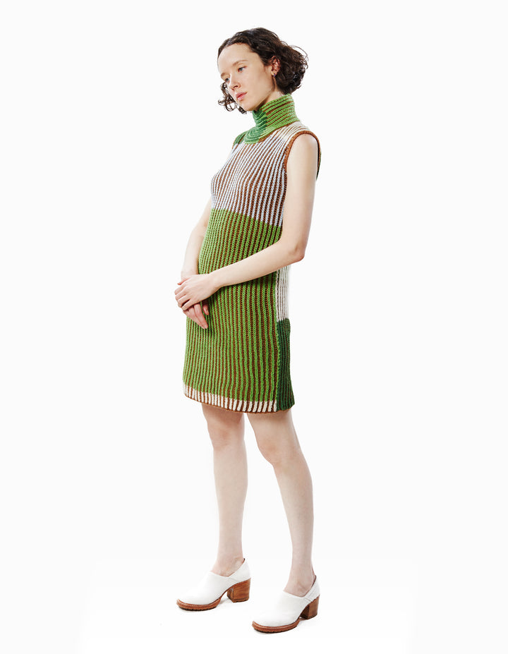 KNIT DRESS IN MEADOW MULTI