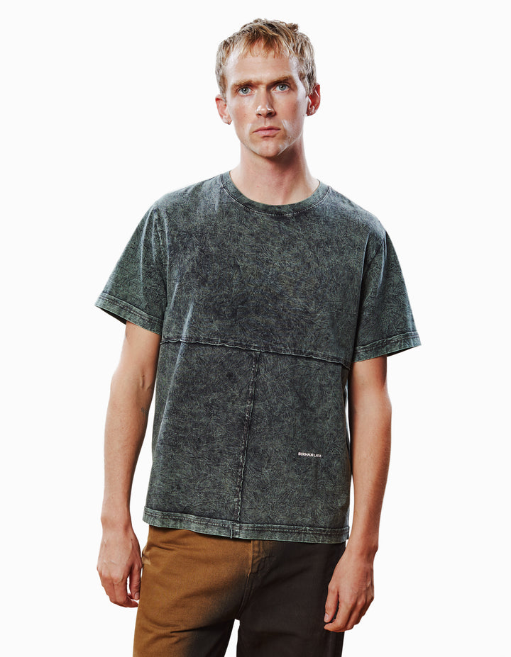 LAPPED TEE IN SEA SMOKE