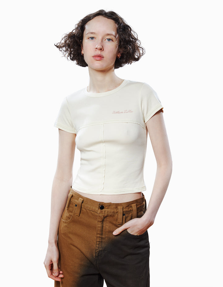 LAPPED BABY TEE IN CREAM