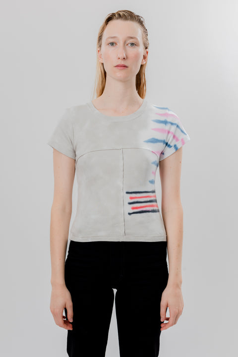 Lapped Baby Tee Step Stripe