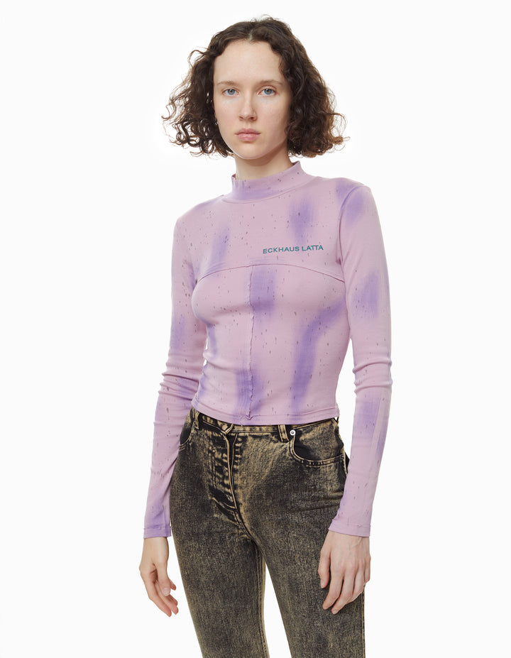 LAPPED BABY TURTLENECK, GALAXY LILAC