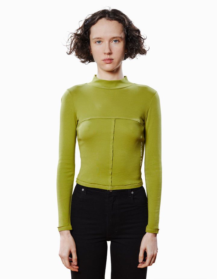 LAPPED BABY TURTLENECK IN WOODBINE