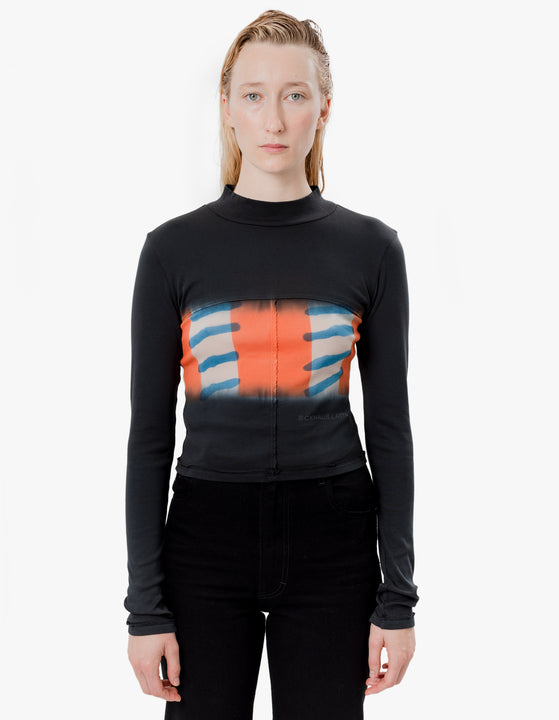Lapped Baby Turtleneck Flag Stripe
