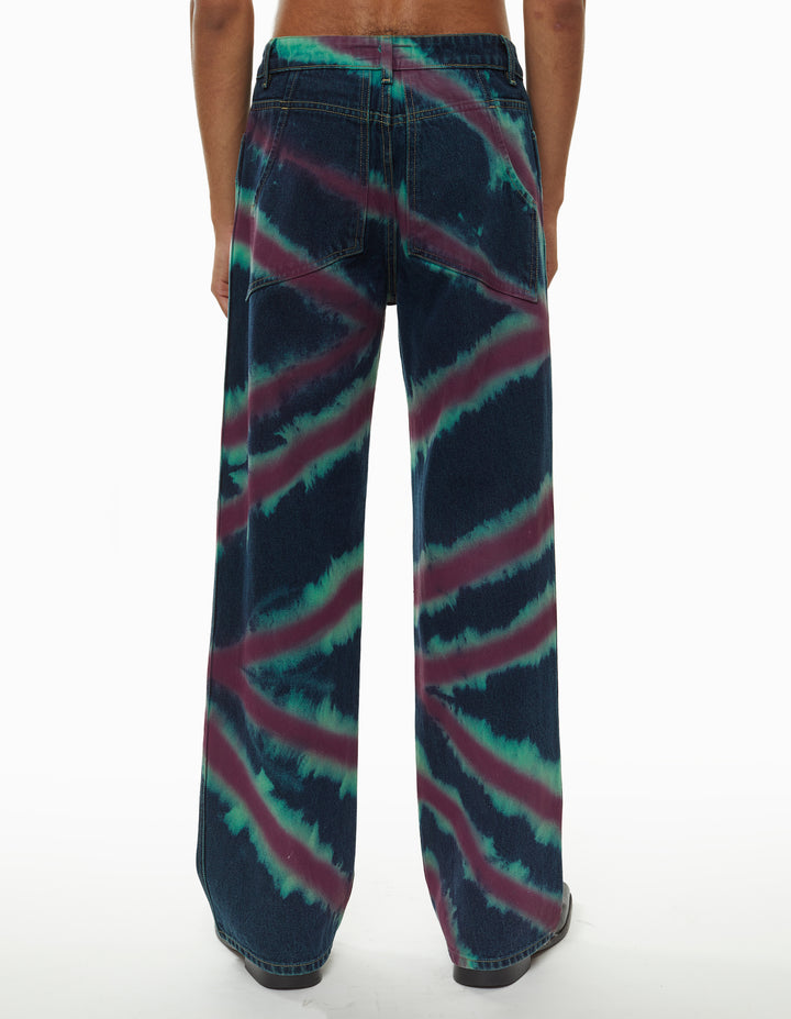 WIDE LEG JEANS, DIRECTIONAL SPRAY