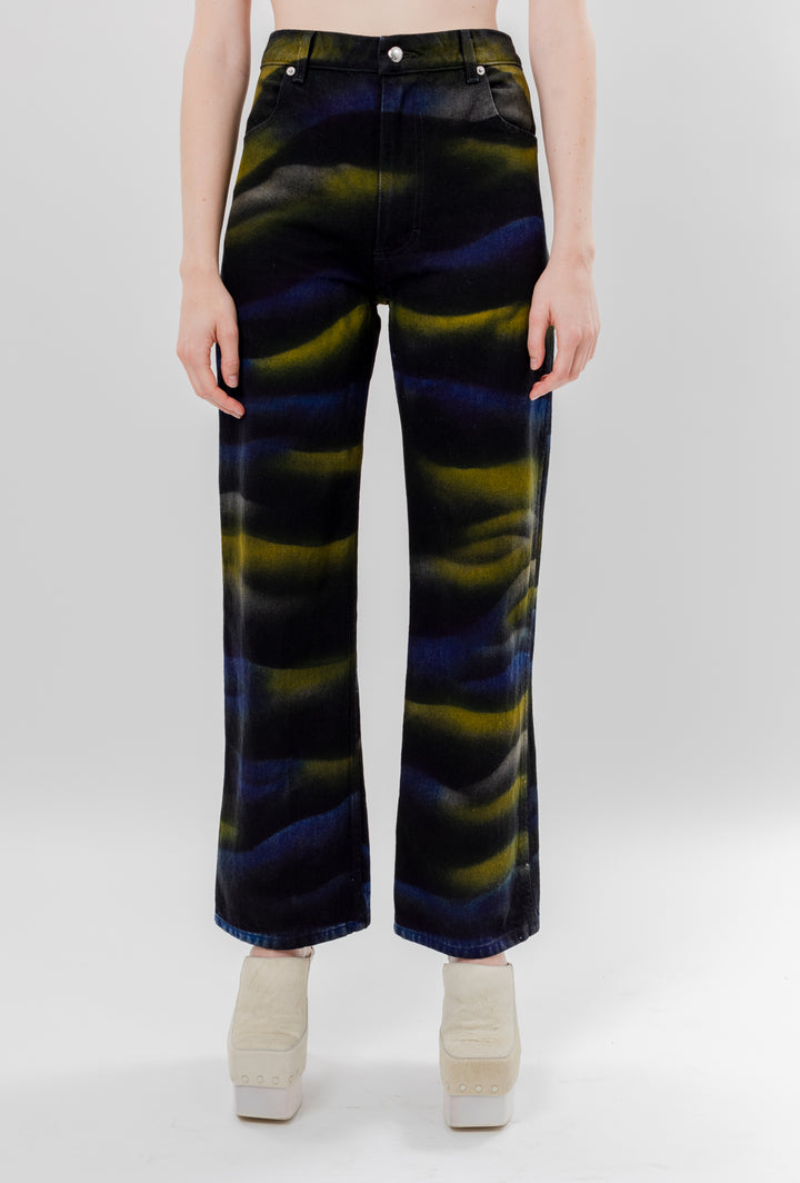 Wide Leg Jean Shadow Dye