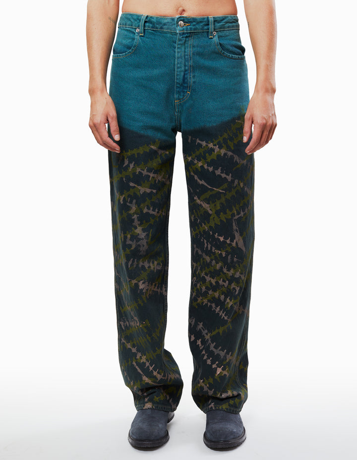 WIDE LEG JEANS IN CROSSHATCH
