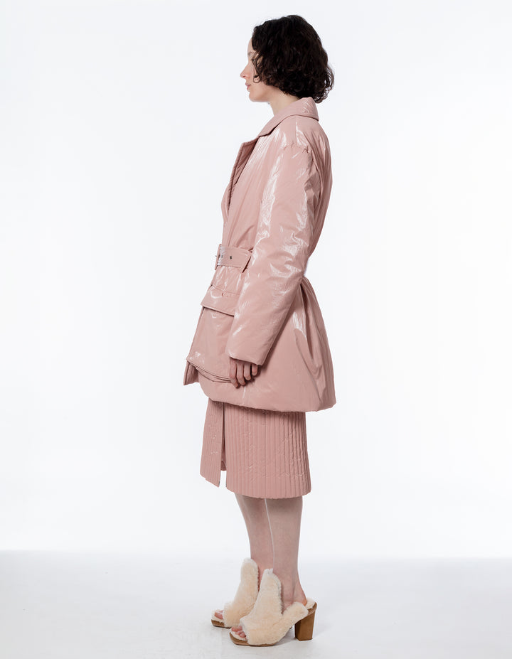 TAILORED PUFFER IN PINK HAZE