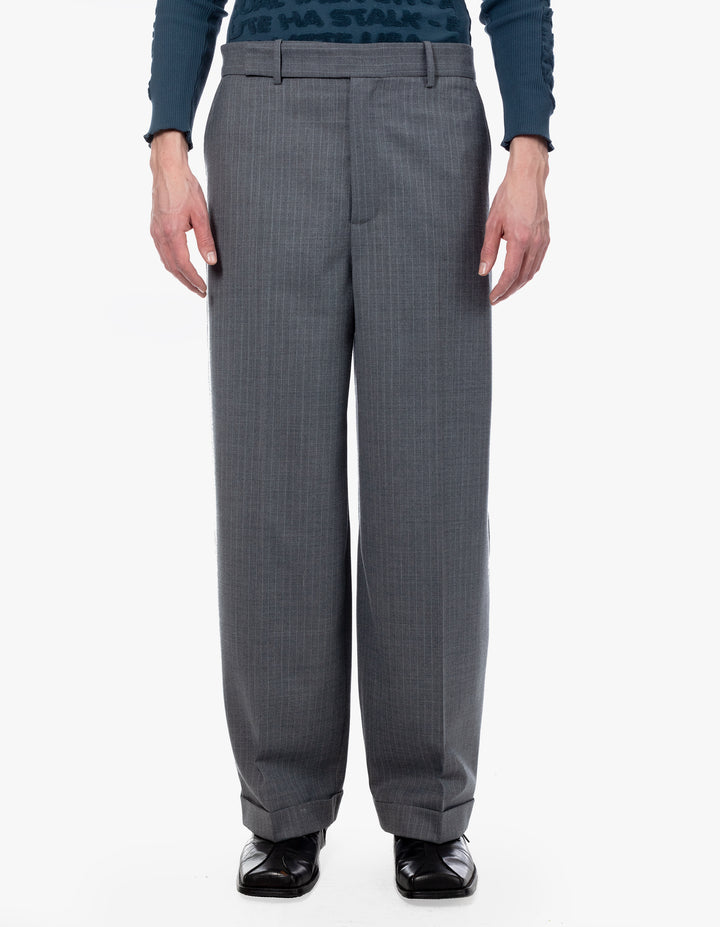 SWAY TROUSER IN GREY PINSTRIPE