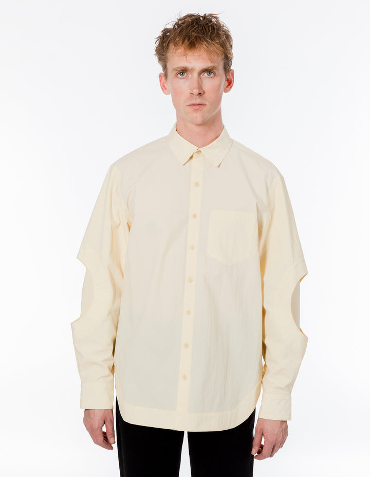 CIRCLE SLEEVE BUTTON DOWN CREAM