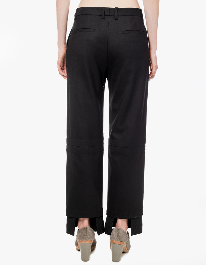 STAGGERED TROUSER BLACK