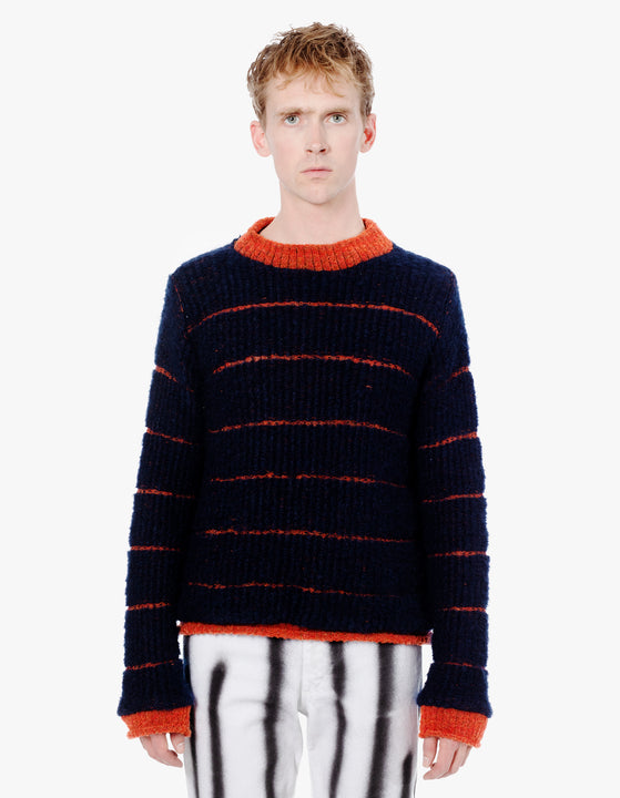 VIP SWEATER BURNT ORANGE NAVY