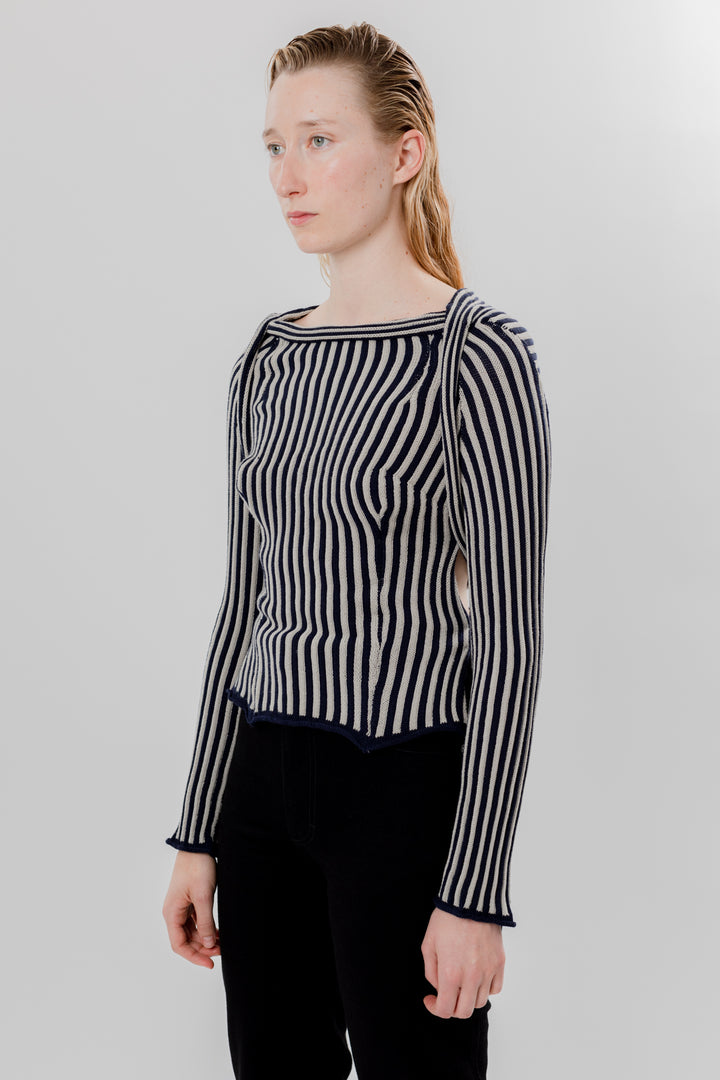 Serpentine Stripe Sweater Midnight & Stone