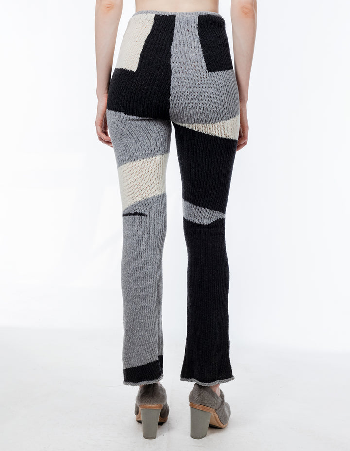 Eckhaus Latta Brickwork Knit Pant Grey Scale