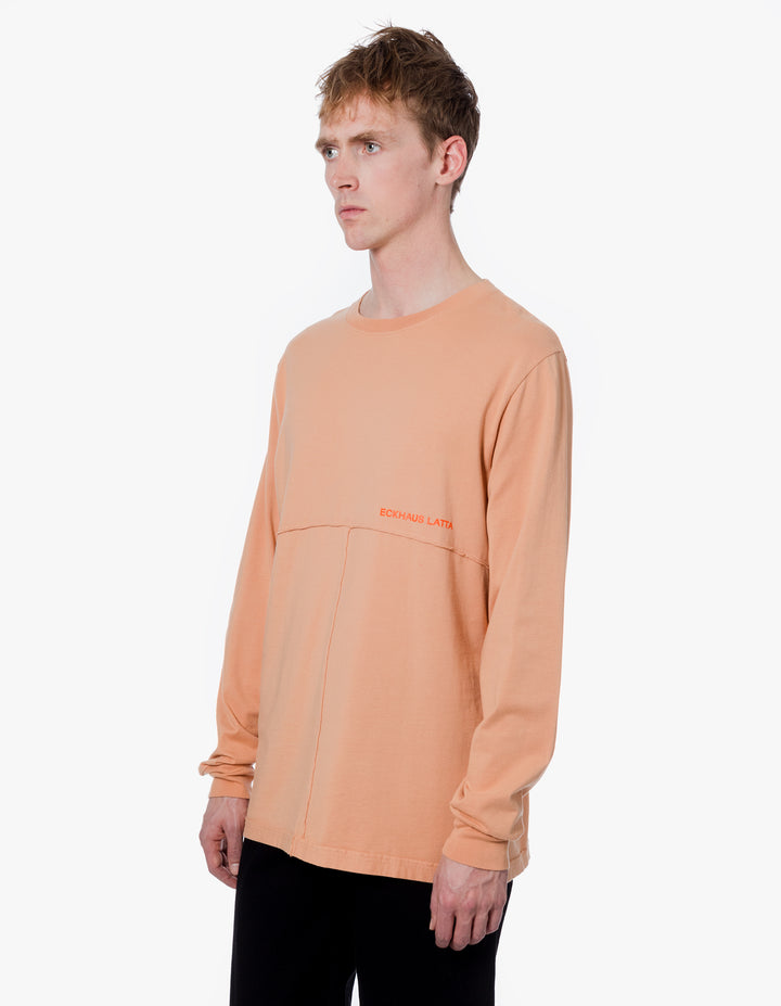 LAPPED LONG SLEEVE TEE IN APRICOT