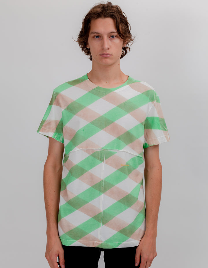 LAPPED TEE GREEN LATTICE
