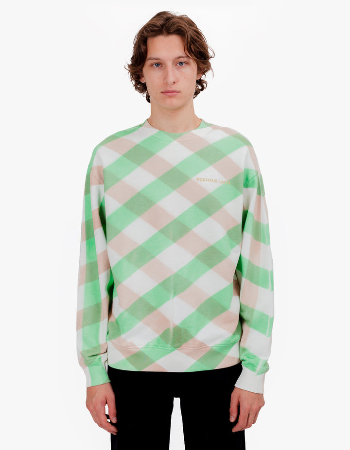 SWEATSHIRT GREEN LATTICE