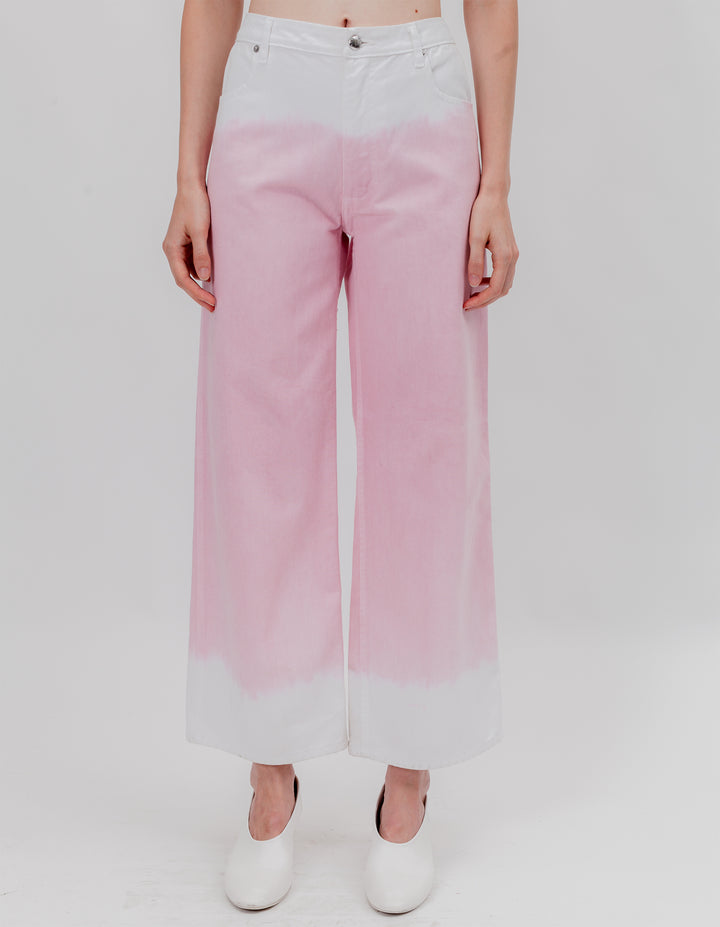 WIDE LEG JEAN PINK CREAM TIP
