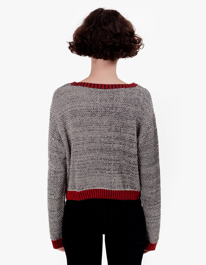 WIGGY ROAD SWEATER OAT & BLACK