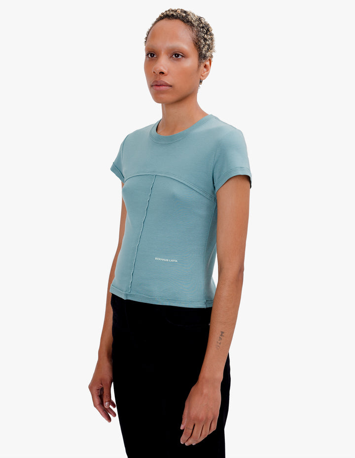 LAPPED BABY TEE MINERAL BLUE