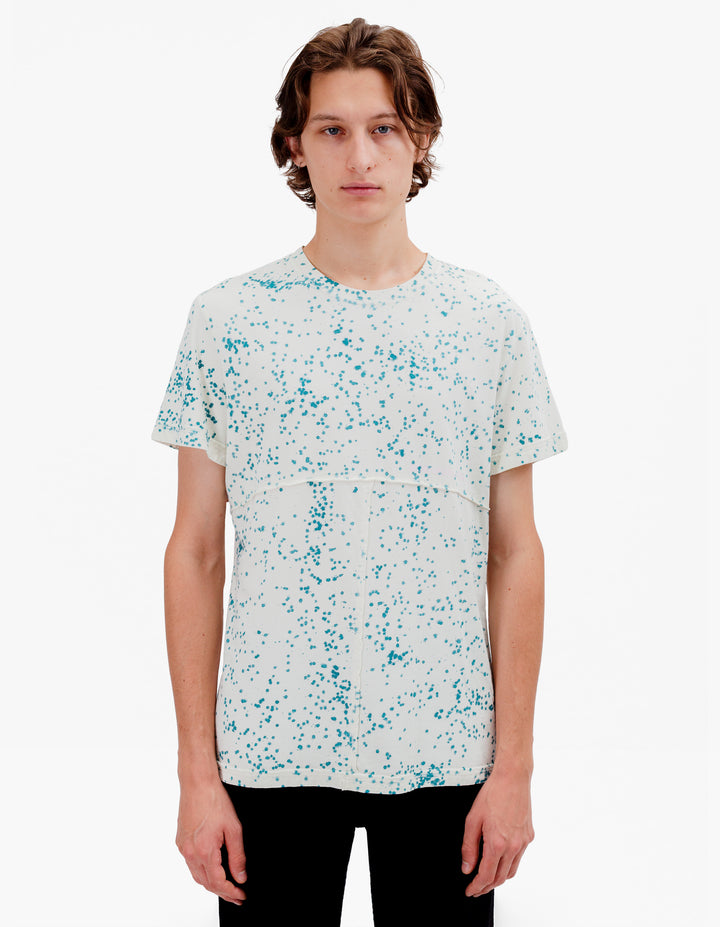 LAPPED TEE TERRAZO BLUE