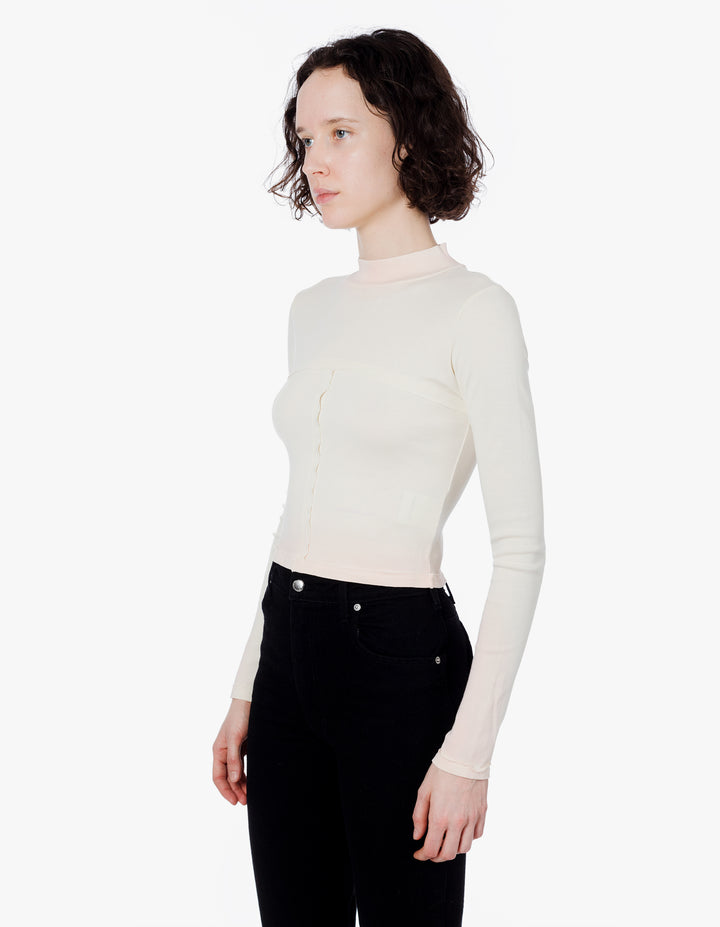 LAPPED BABY TURTLENECK PINK CREAM TIP
