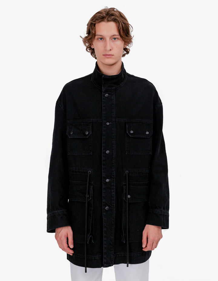 TETHERED DENIM JACKET ALMOST BLACK