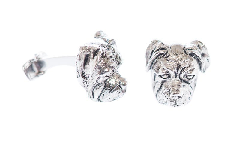 Sterling Bulldog Cufflinks - MCM Studio
