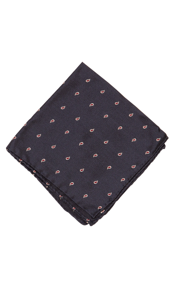 Positano Navy Red Pocket Square