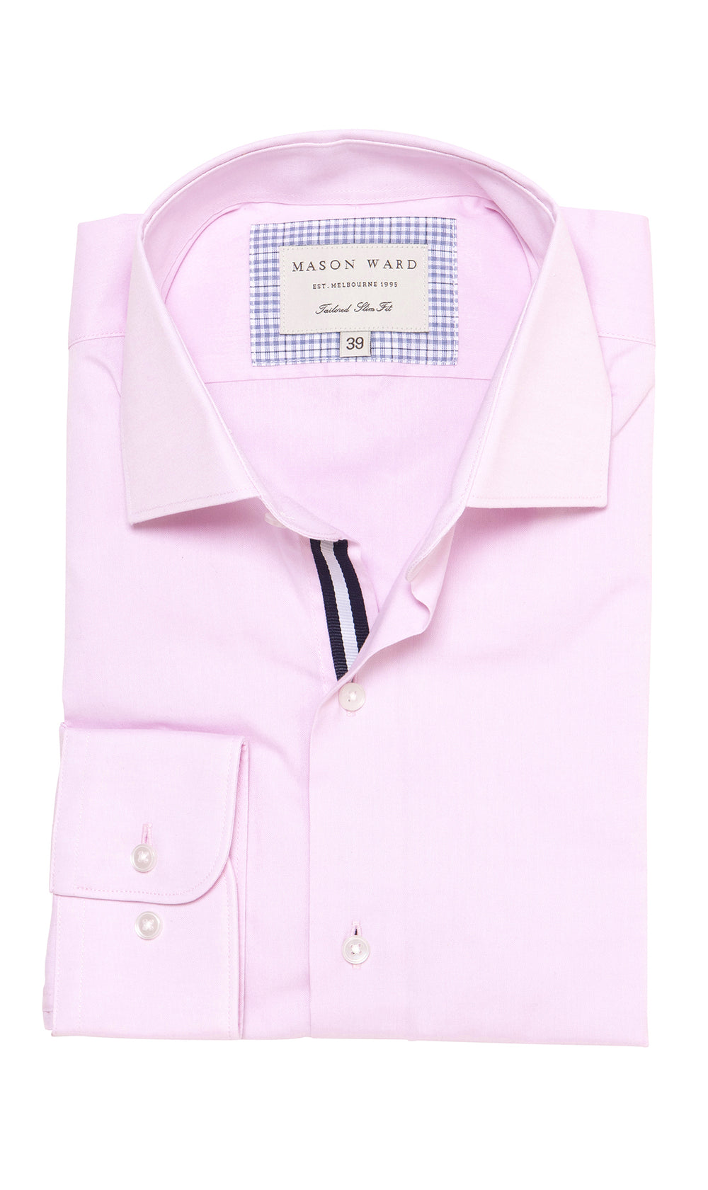 Mason Ward Limhamn Pink Slim Fit/ Regular Cuff Shirt
