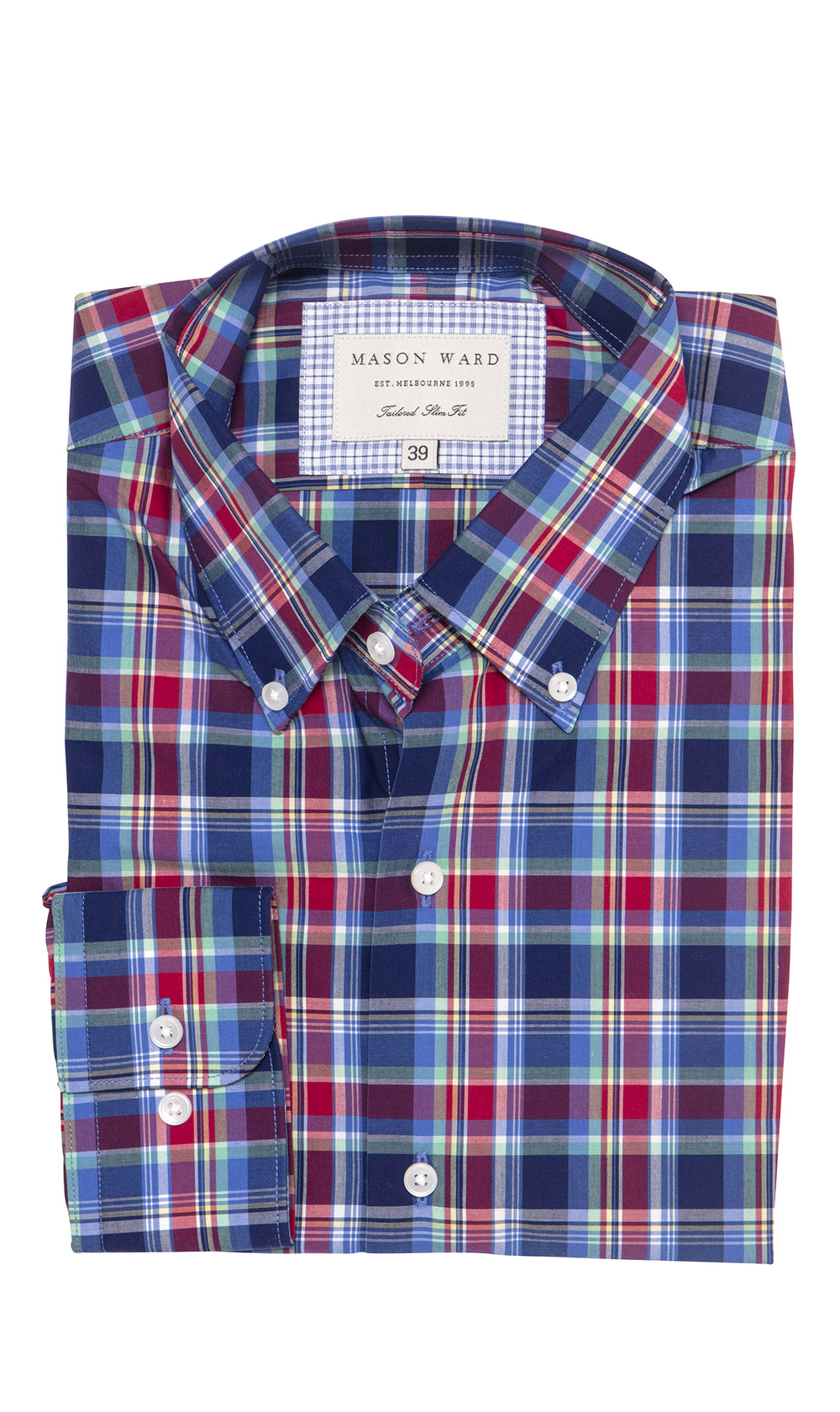 Mason Ward Trelleborg Casual Check Slim Fit/ Regular Cuff Shirt