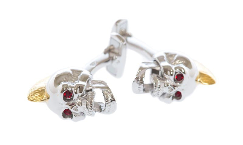 Red-Eye Skull Cufflinks - MCM Studio