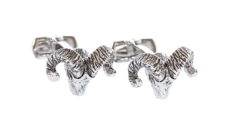Sterling Ram Cufflinks