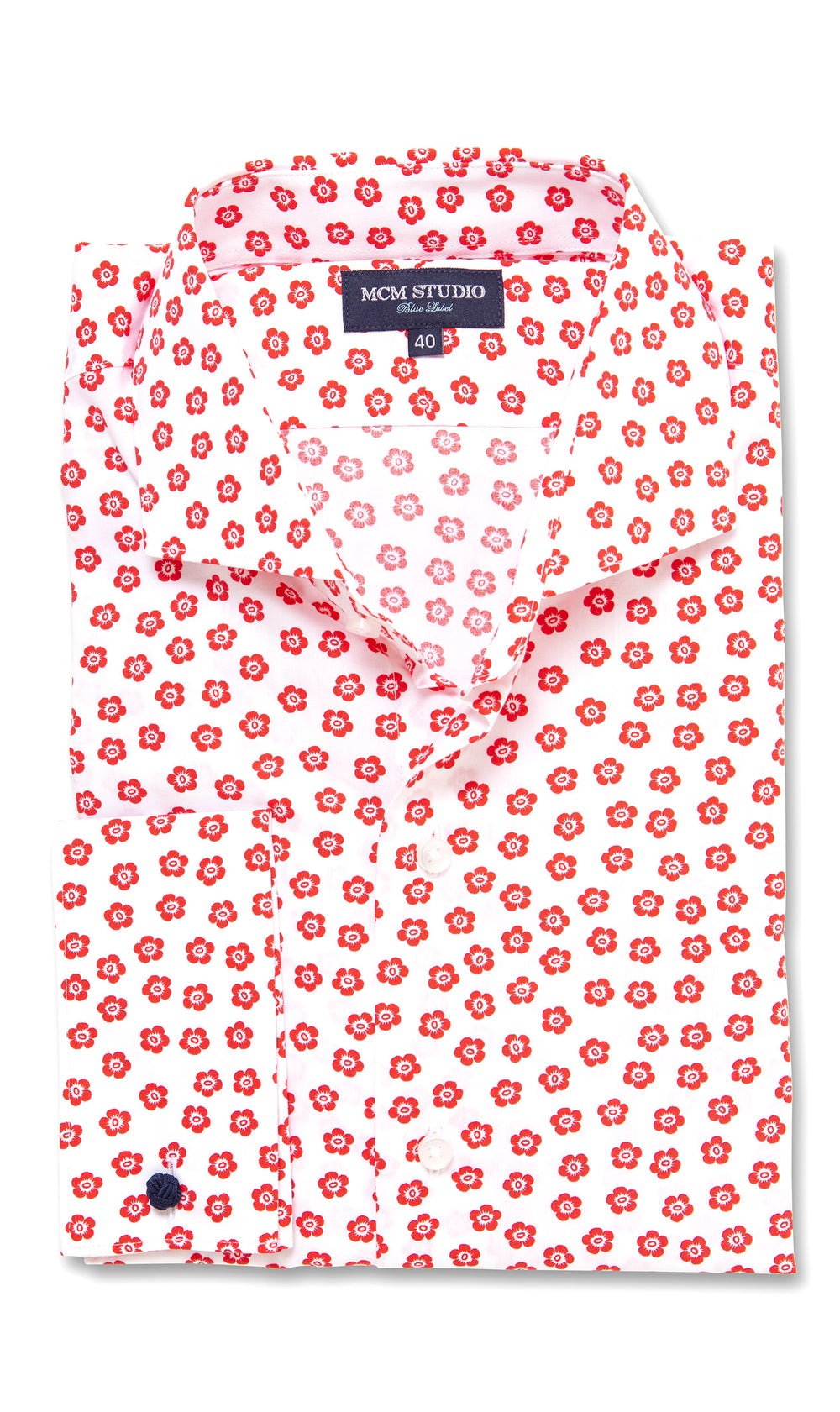 Adelphi Floral- Men's Slim Fit/ French Cuff - MCM Studio