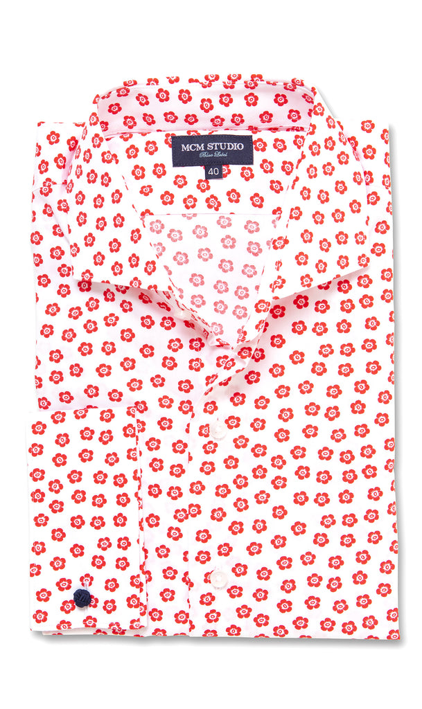 Adelphi Floral- Men's Slim Fit/ French Cuff