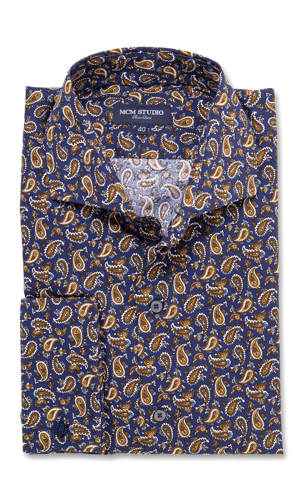 Arkansas Paisley - Men's Slim Fit/ French Cuff