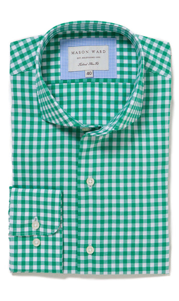 Seville Green Slim Fit Button Cuff