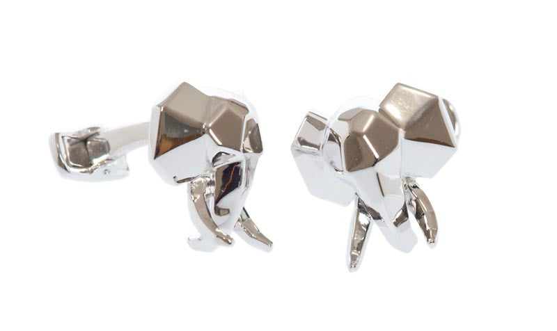 Sterling Faceted Tusk Cufflinks - MCM Studio
