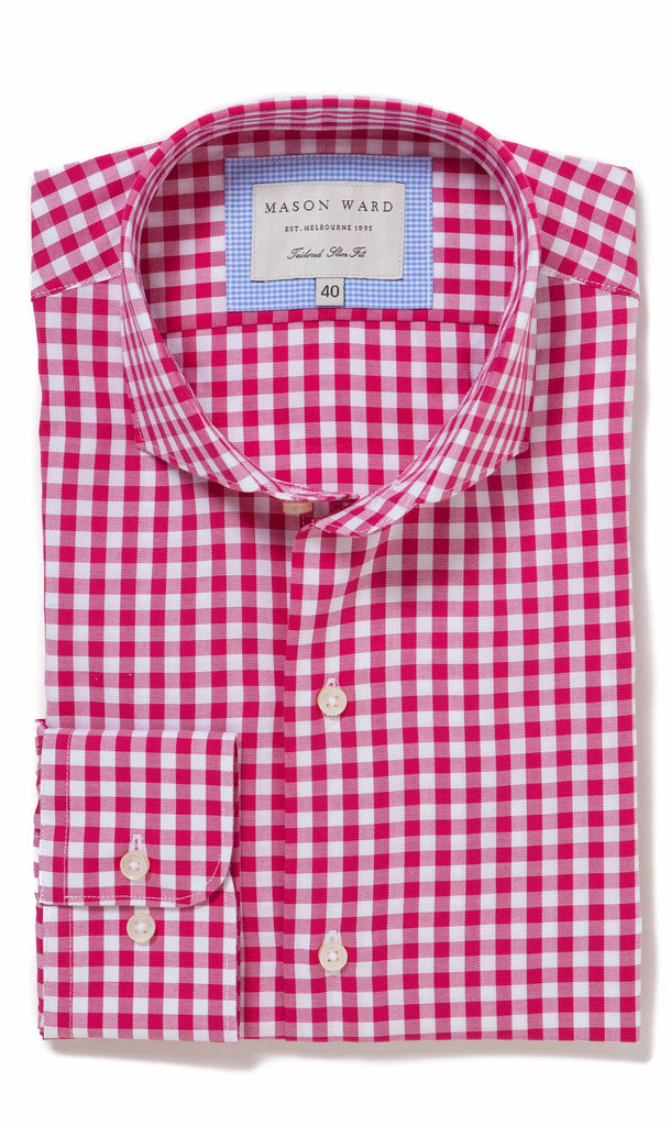 Seville Cerise Slim Fit Button Cuff - MCM Studio