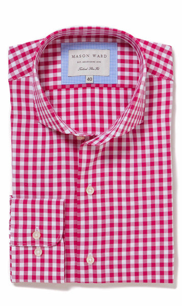Seville Cerise Slim Fit Button Cuff