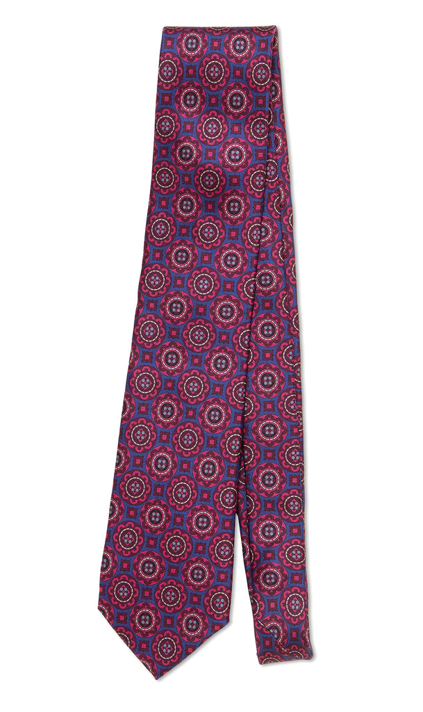 Salvatore Tie Blue Red - MCM Studio