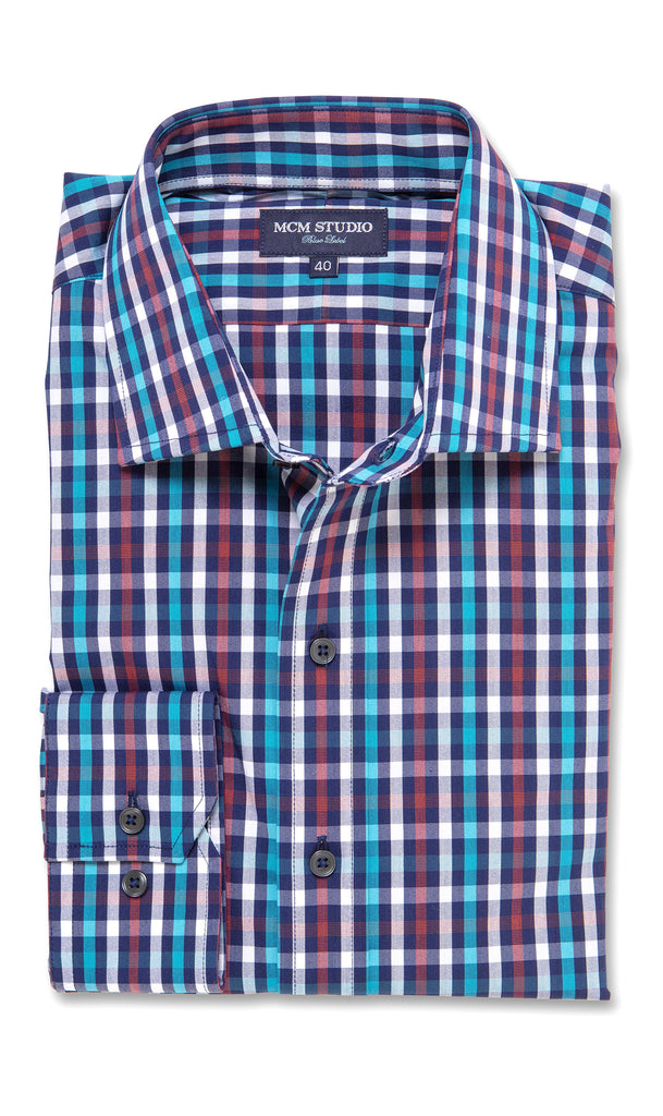 Aldo Check - Men's Fashion Fit/ Button Cuff - MCM Studio